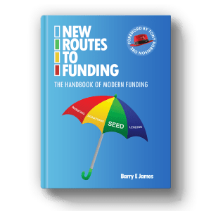 NRTF_book_square, New Routes to Funding, Barry James, Crowdfund Better, Kathleen Minogue, crowdfunding for business advisors, alternative capital, alternative funding, seed funding