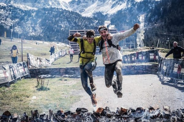friends, jumping over fire, crowdfunding friends