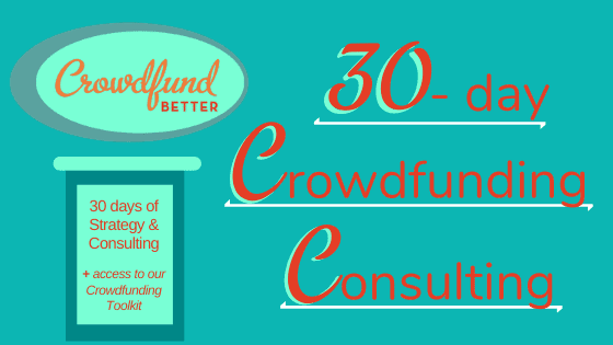 Crowdfunding Consulting Package, Crowdfund Better Consulting, crowdfunding strategy, Crowdfunding Toolkit, crowdfunding on a budget, solopreneur, entrepreneur, crowdfunding solo, small business crowdfunding, social enterprise crowdfunding